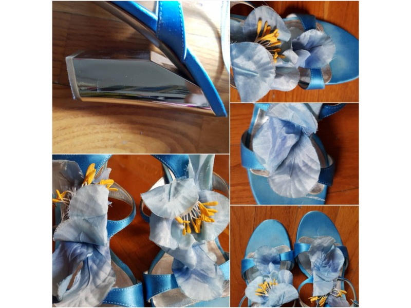 Casadei plave sandale, original