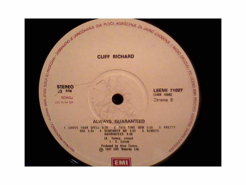Cliff Richard - Always Guaranteed