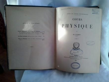 Cours de Physique Fabry izdanje 1933 godine