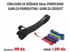 Crna guma za vežbanje 20mm /Power band / Powerlifting