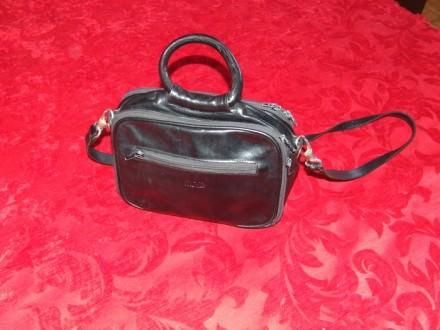 Crna  kozna torba Mona