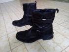 Crne kožne duboke čizme