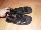 Crne kozne sandale ITALY, handmade, 42