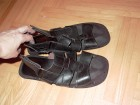 Crne kozne sandale, rucni rad, 42