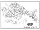 Crno bela mapa grada