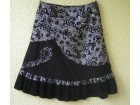 Crno-srebrna suknja vel. oko 42