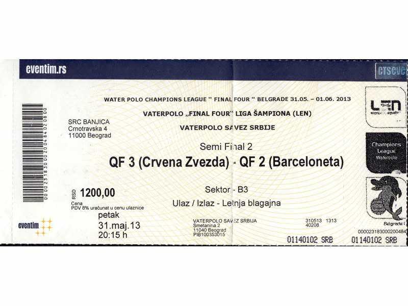 Crvena Zvezda - Barceloneta 9 : 5 , 2013.god.