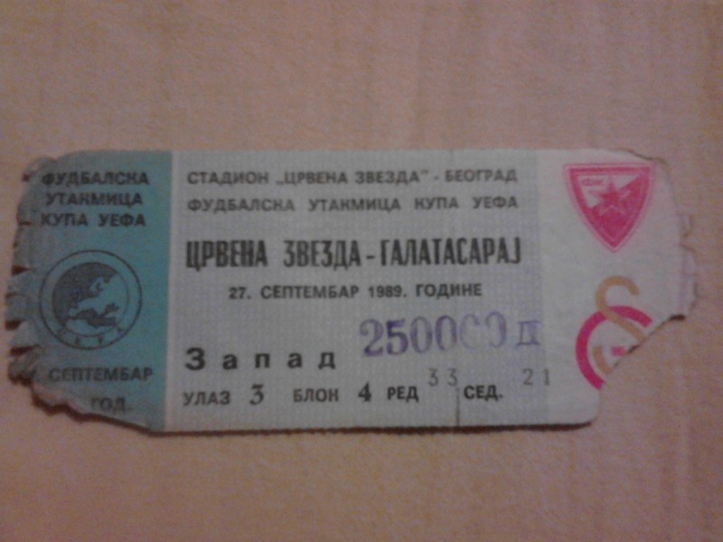 Crvena Zvezda - Galatasaraj , 27.09.1989.