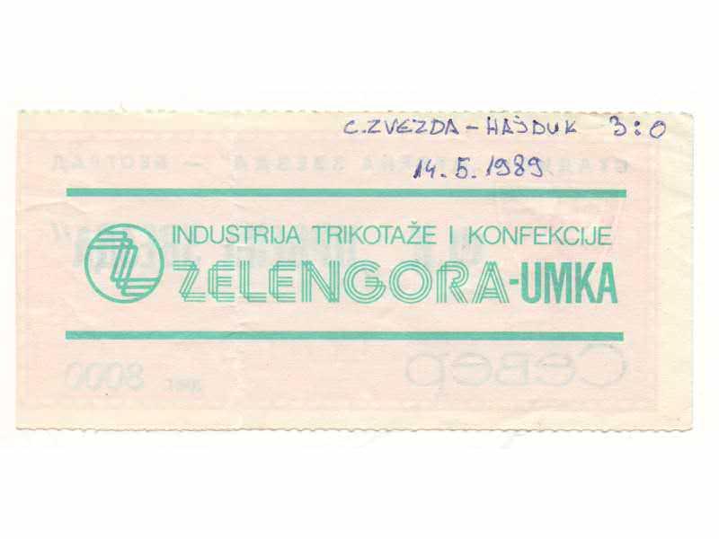 Crvena Zvezda-Hajduk 1989