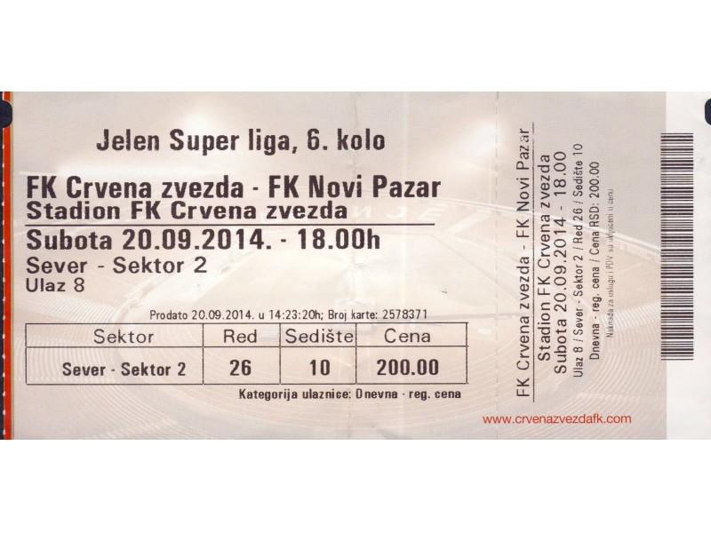 Crvena Zvezda - Novi Pazar , 2014.god.