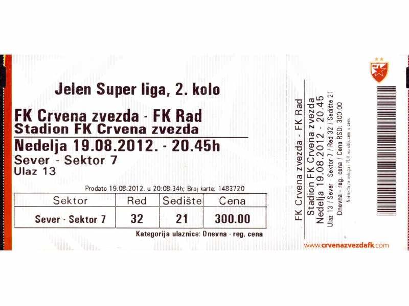 Crvena Zvezda - Rad   ,   2012.god.