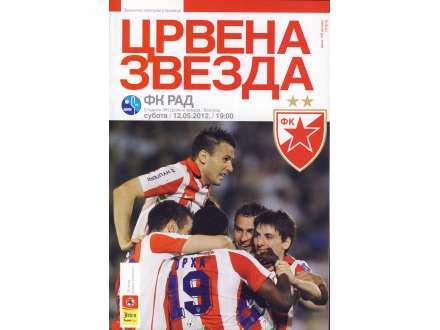 Crvena Zvezda - Rad   ,   program   ,   2012.god.