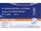 Crvena Zvezda - Roma , 2005.god.