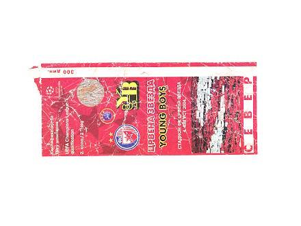 Crvena Zvezda-Young Boys,2004,ulaznica za mec.