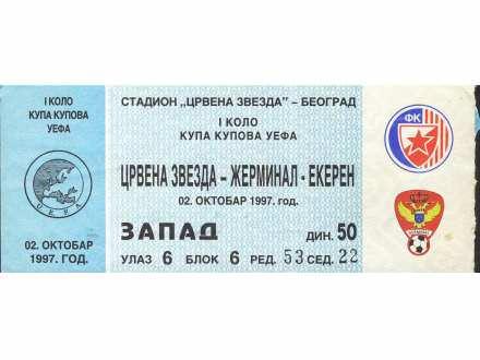 Crvena Zvezda - Žerminal Ekeren   ,   1997.god.