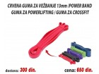 Crvena guma za vežbanje 13mm /Power band / Powerlifting