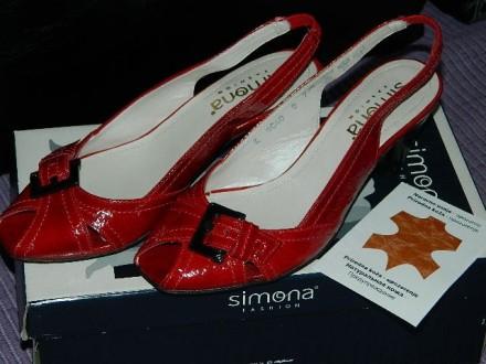 Crvene kožne sandale-italijanske