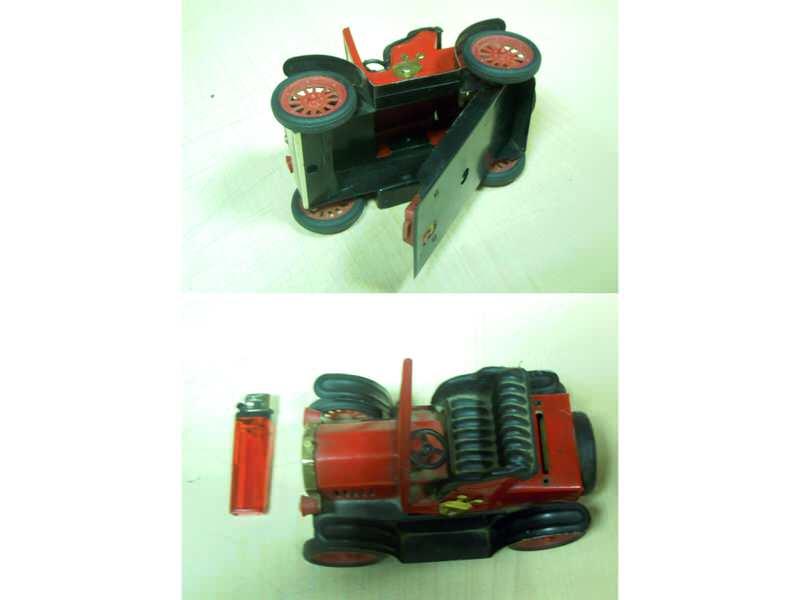 Crveni Limeni OldTajmer 1917 čvrste i očuvane konstrukc
