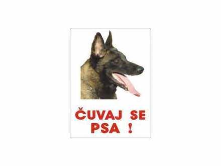 Čuvaj se psa Malinoa -  table i nalepnice