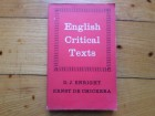 D.J.ENRIGHT - ENGLISH CRITICAL TEXTS