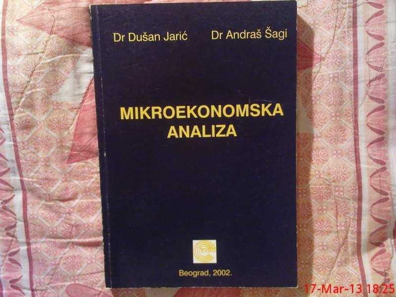 D. JARIC - A. SAGI --  MIKROEKONOMSKA  ANALIZA
