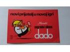 DADO cokolada,nagradni album Kandit,Osijek Jugoslavija