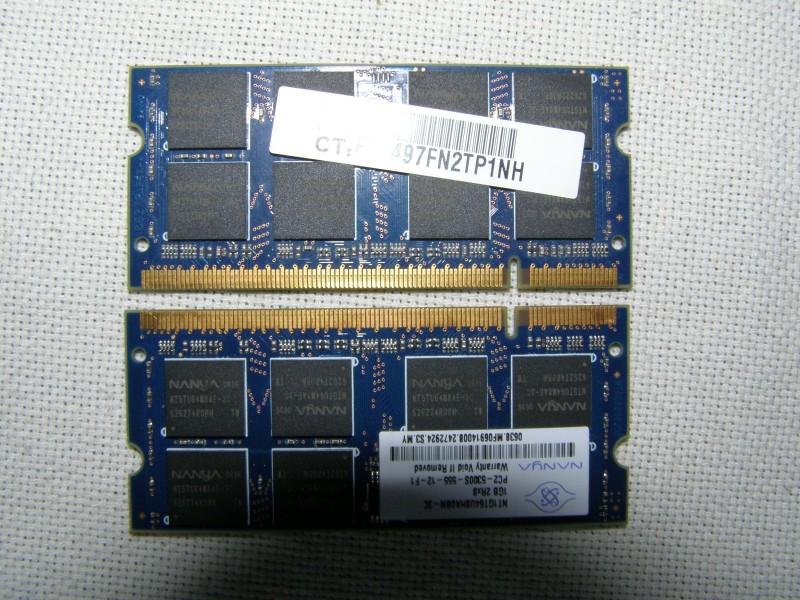 DDR2 Memorija za laptop Nanya 2x1GB