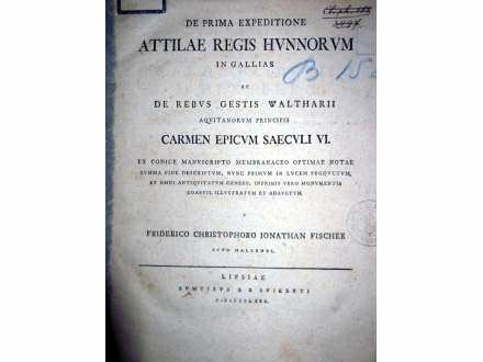 DE PRIMA EXPEDITIONE ATTILAE REGIS HUNNORUM (1780)