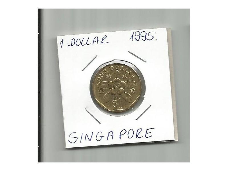 DK1 Singapore 1 dollar 1995.