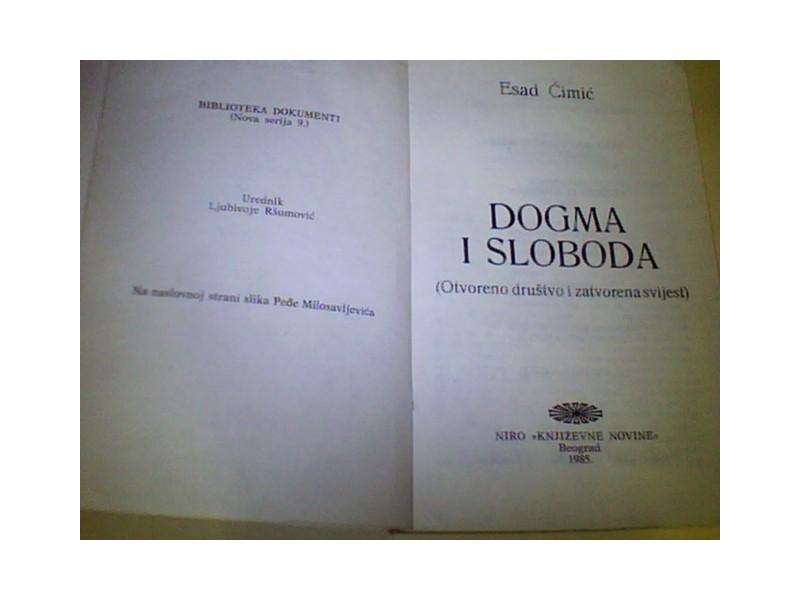 DOGMA I SLOBODA-Esad Ćimić