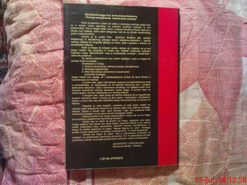 DR. BRANISLAV DJORDJEVIC - PRINCIPI MENADZMENTA