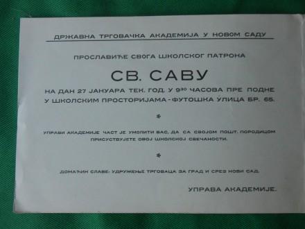 DRŽAVNA TRGOVČKA AKADEMIJA-NOVI SAD-1930/40./Y-17/
