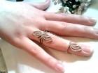DUPLI srebrni prsten 925