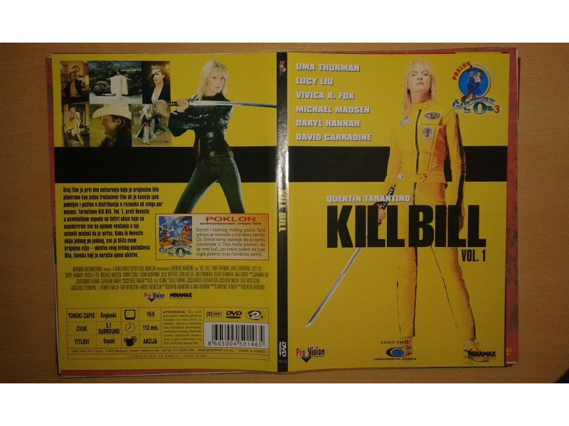 DVD originalan omot za film KILL BILL vol. 1