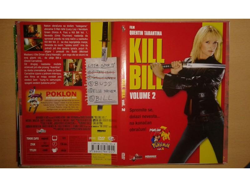 DVD originalan omot za film KILL BILL vol. 2