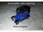 Days Gone Lledo - 1933 Austin Taxi Car