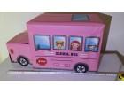 Deciji autobus tabure sa korpom za odlaganje igracaka