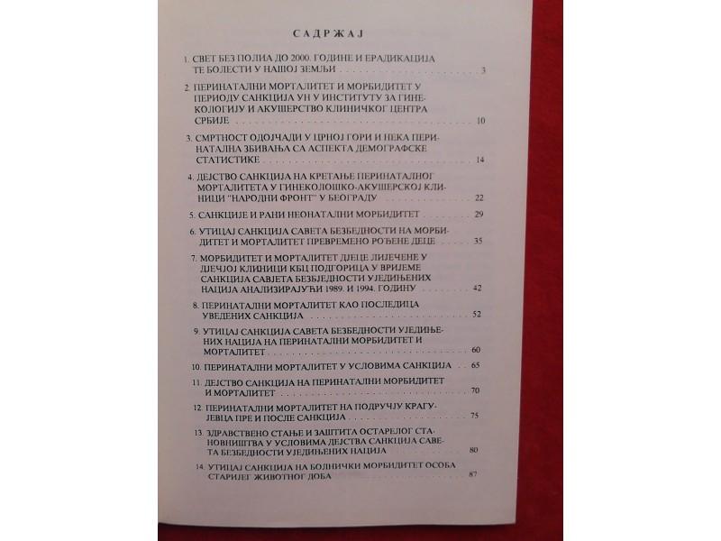 Dejstvo sankcija  na zdravlje naroda SR Jugoslavije
