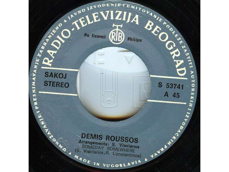 Demis Roussos - Someday, Somewhere / Lost In A Dream