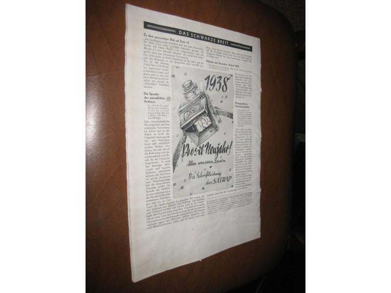 Der Satrap 14. Jahrgang 1938. Januar