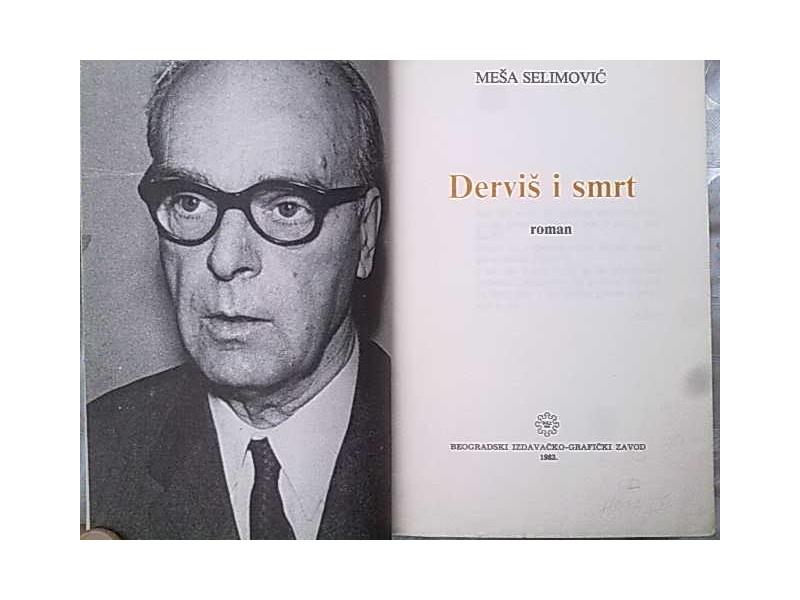 Intervjui sa poznatim licnostima iz kulture Dervis-i-smrt-Mesa-Selimovic_slika_XL_27736029