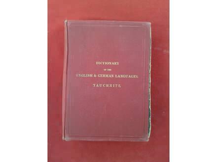 Dictionary English -German languages iz 1899god.