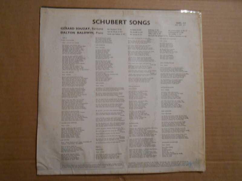 Dietrich Fischer-Dieskau - Schubert Songs