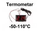 Digitalni termometar sa sondom -50-110°C - LED crveni