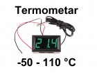 Digitalni termometar sa sondom -50-110°C - LED zeleni