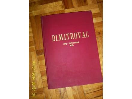 Dimitrovac maj - decembar 1937.g.