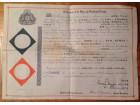 Diploma masonska Masoni Grand lodge of scotland