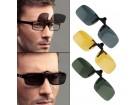 Dodatna stakla za naočare za vid za nocnu voznju ZUTE