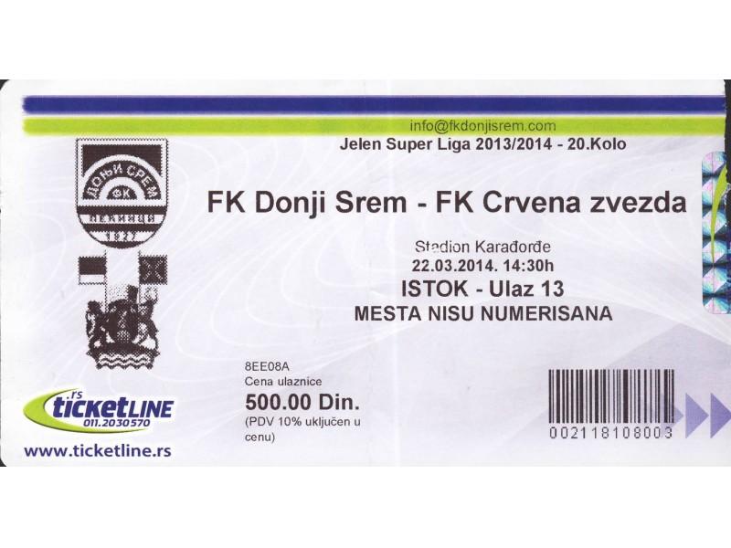 Donji Srem - Crvena Zvezda , 2014.god.