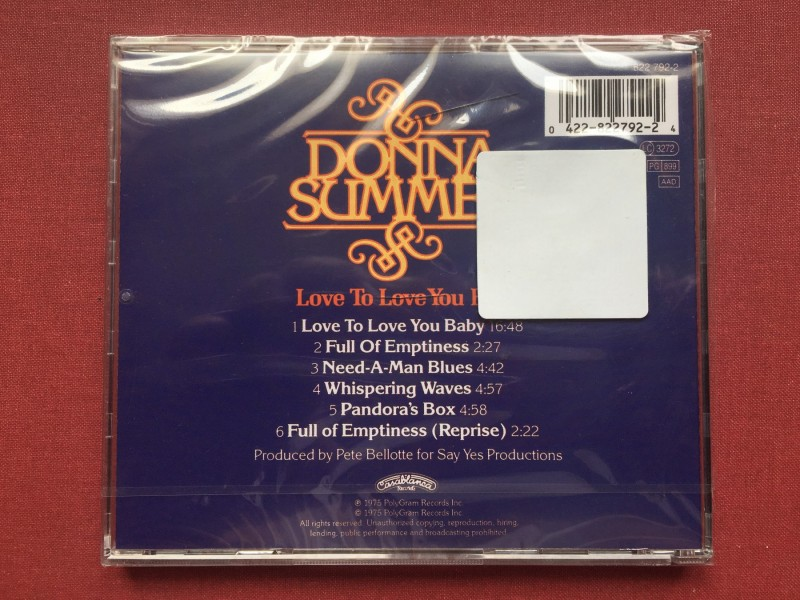 Donna Summer - LOVE TO LOVE YOU BABY  1975